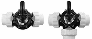 CUSTOM MOLDED PRODUCTS | COMPLETE BLACK CPVC VALVE WITH UNIONS, 2-WAY, 1-1/2 SLIP | 25922-154-000