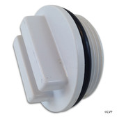 "SUPER PRO | 1.5"" PLUG W/ O-RING WHITE 