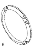 "BALBOA | WALL FITTING, FLAT GASKET FOR 3-1/2"" HOLE SIZE 