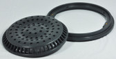 "WATERWAYS | MAIN DRAIN ANTI VORTEC 8"" FRAME & GRATE DARK GRAY 