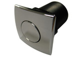 C G Air Systemes Inc | AIR BUTTON | #20 ZEN CHROME PLASTIC SQUARE | AM-AB-C-CP