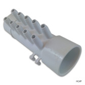 "Waterway | MANIFOLD | 10-PORT FLO-THRU 1-1/2"" SPIGOT X 1-1/2"" SLIP X .375"" SLIP WITH 4 PLUGS 