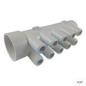 "Waterway | MANIFOLD | 10-PORT FLO-THRU 1-1/2"" SPIGOT X 1-1/2"" SLIP X 3/4"" SMOOTH BARB 