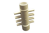 "Waterway | MANIFOLD | 8-PORT FLO-THRU 1"" SLIP X 1"" SPIGOT X .375"" RIBBED BARB 