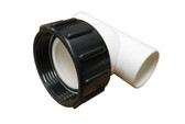 "Balboa Water Group | PUMP UNION |  LOW PROFILE TEE 1-1/2"" UNION X 1"" SLIP X 1"" SLIP & O-RING 