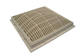 "Waterway | MAIN DRAIN | 12"" X 12"" GRATE WHITE 