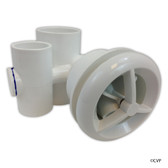 "Balboa Water Group | JET ASSEMBLY | MICROSSAGE 1.5"" X 1"" WHITE 