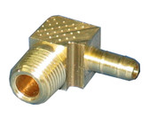 "BRASS FITTING | 90 DEGREE X 1/4"" BARB 