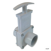 "Valterra Products | Gate Valve, 1-1/2"", 3-pc, Spg x Spg, PVC-White (6103) 
