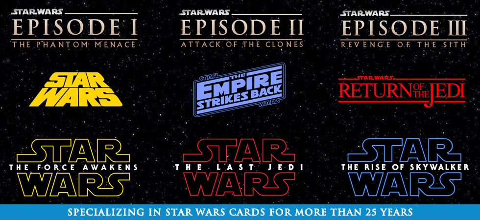 Specializing in Topps Star Wars Trading Cards