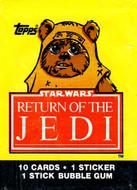1983 Topps Return of the Jedi Series 1 Wrapper Set (4)