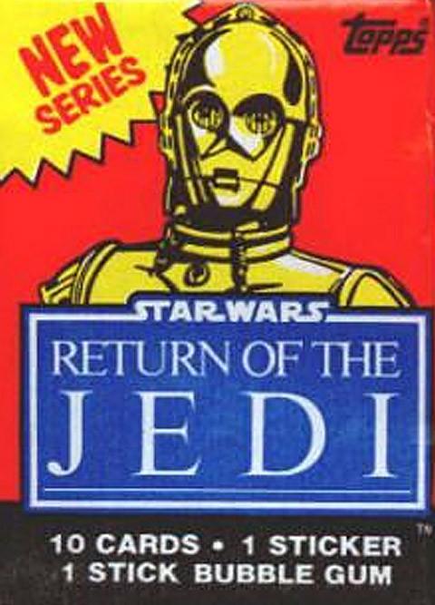 Vintage Complete Set-4 Original Series Star Wars ROTJ Non Sports Wrappers