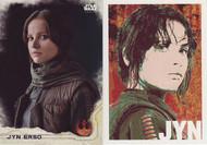 2016 Topps Star Wars Rogue Series 1 Set + Character Icon Set (101)