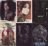 2016 Topps Star Wars Rogue Series 1 Set + 5 Chase Sets (131)