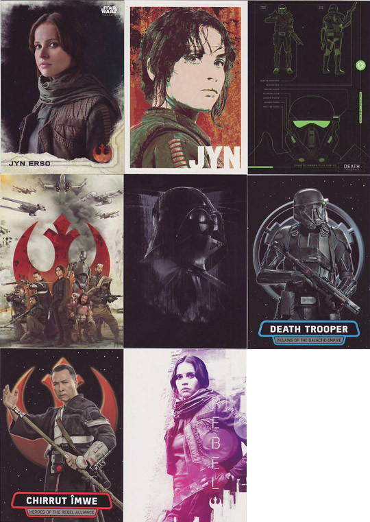 7 Chase Sets Star Wars Rogue One Mini Master Set Base 155 Cards