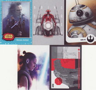 2017 Topps Star Wars Journey to The Last Jedi Set +  4 Chase Sets (142)