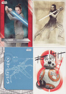 2017 Topps Star Wars  The Last Jedi Set +  Illustrated + Blueprint + Resist Sets (127)