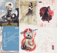2017 Topps Star Wars  The Last Jedi Series 1 Set + 6 Chase Sets (146)