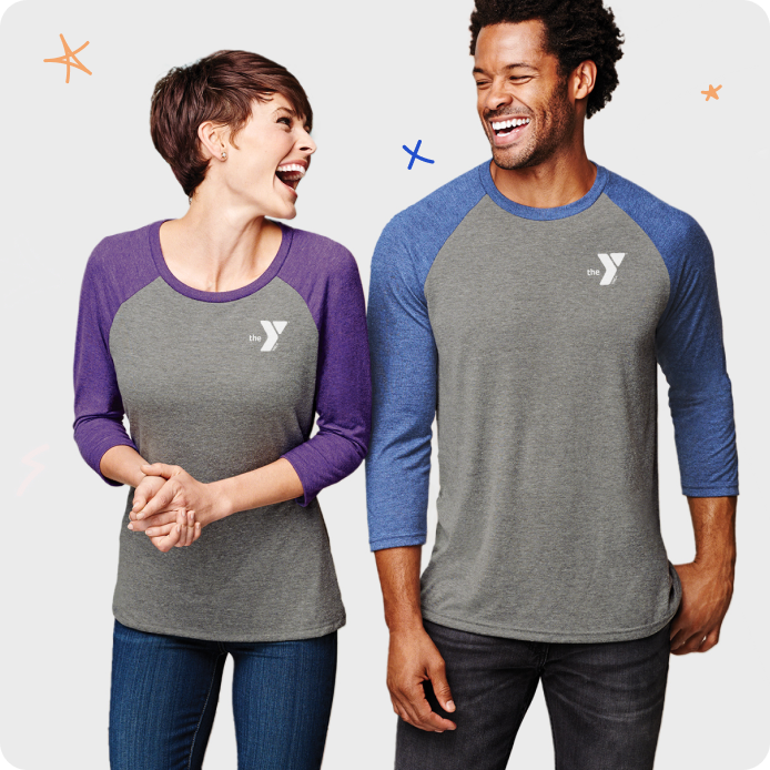couple wearing YMCA shirts