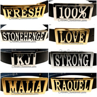 custom name belt buckle