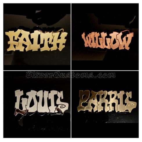 hip hop name belt buckle