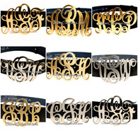 initial monogram belt buckle