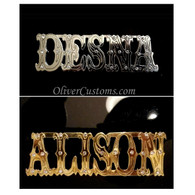 personalized name belt buckle