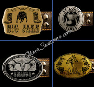 Laser Etched Custom Logo Belt Buckle
