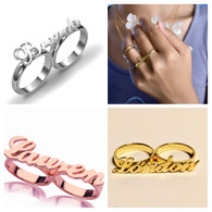 Two finger Personalized Name ring