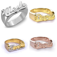Personalized Name Script ring
