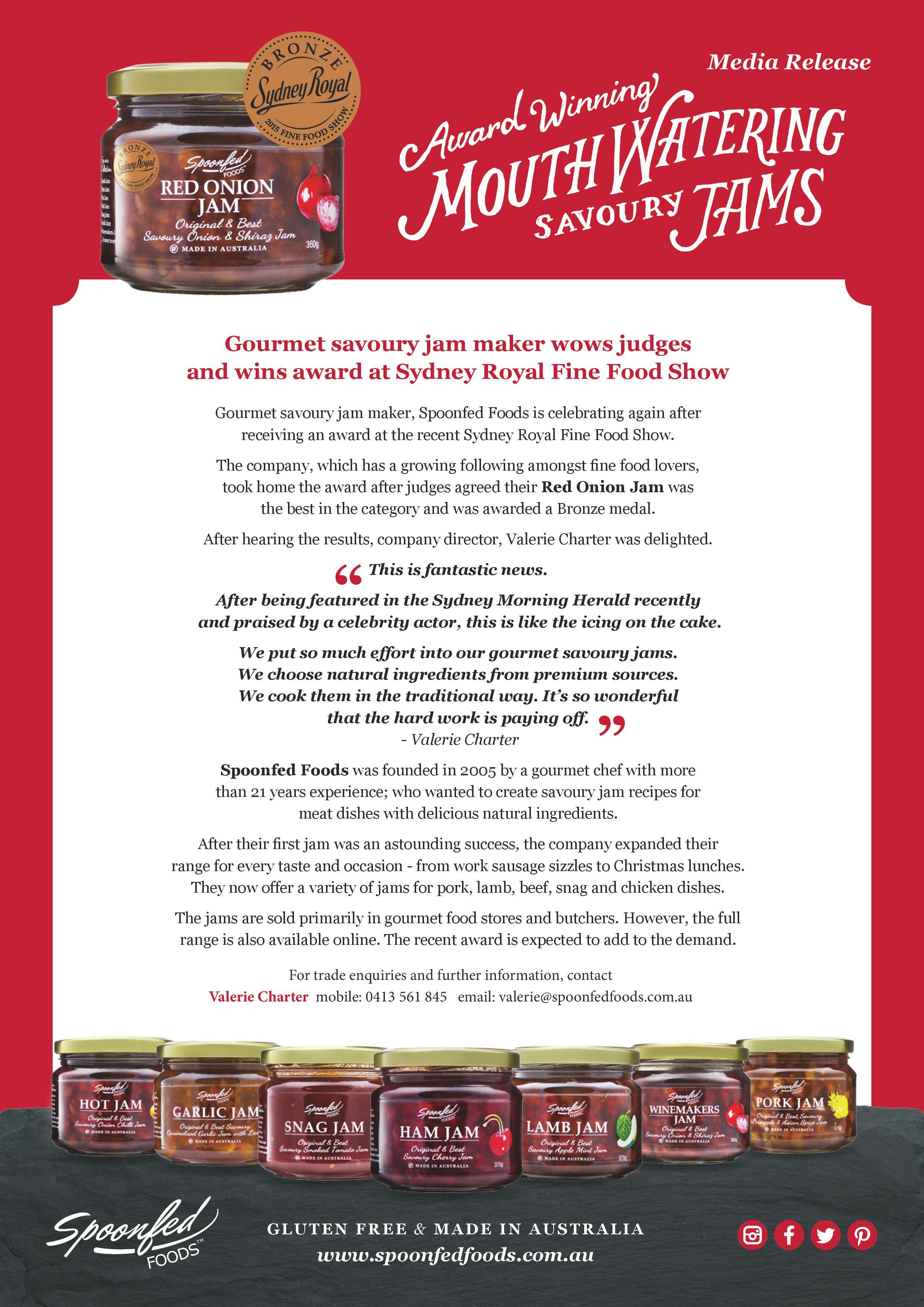 Award winning mouthwatering savoury jams