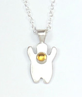 BABY BOY NECKLACE WITH STONE
