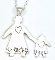 MAMA/GRANDMA AND CHILD (GIRL OR BOY) NECKLACE