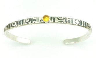 MUD CLOTH SINGLE STONE MESSAGE BRACELET