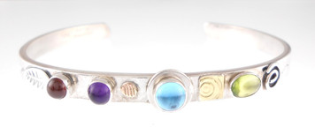 A PROTECT THIS WOMAN BRACELET, BLUE TOPAZ ON SALE