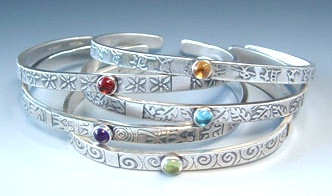 MESSAGE BRACELET WITH LEAVES OR SPIRALS  ON SALE