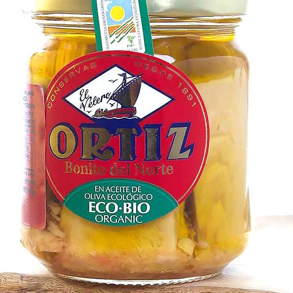 Bonito del Norte in Organic Olive Oil - White Meat Tuna by Ortiz
