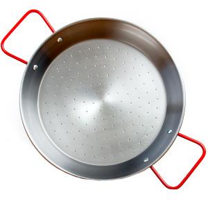Garcima 15-Inch Polished Steel Paella Pan, serves 8