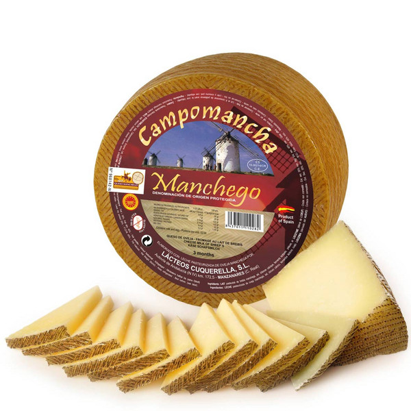 Manchego Cheese 2.2 Pounds Wheel D.O. Hidalgo