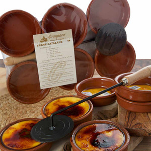 Crema Catalana Terra Cotta Set of 6 Cazuelas