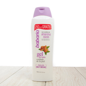 Babaria Gel de Baño con miel de almendras. Babaria Bath & Shower Gel with Almond Oil - Dry Skin