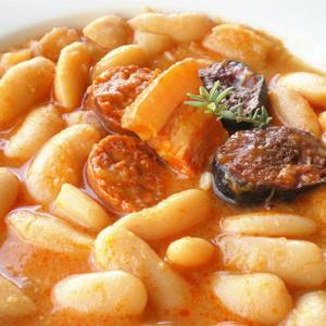 Ingredients for Fabada Asturiana