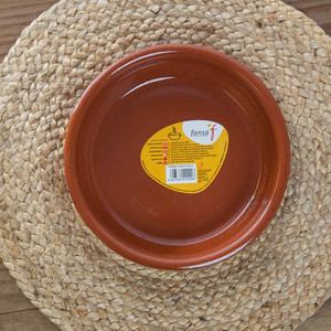 Traditional Terra Cotta Round Cazuela 8-1/4 in.