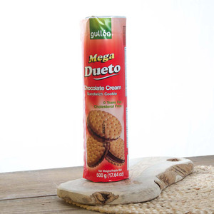 Cookies filled with Chocolate Mega Dueto by Gullon