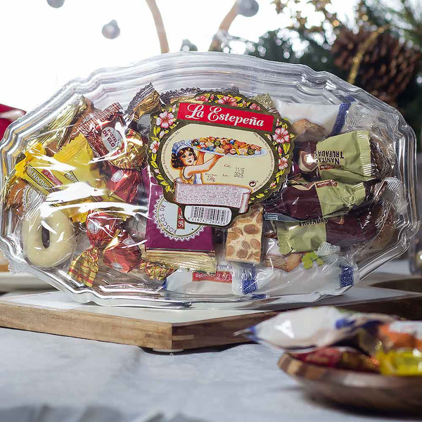 Large Platter with Assorted Christmas Sweets by La Estepeña