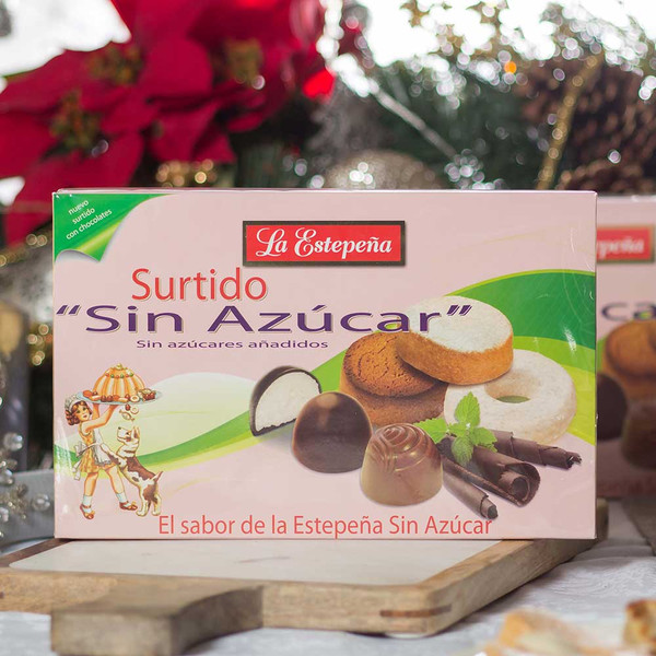 Sugar-Free Assortment Box with Chocolate by La Estepeña