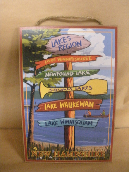 Lake Directional Sign