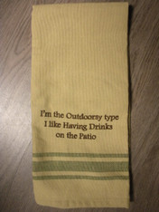 Dish Towel ~ Out Doors