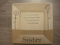 Sister Wood Plate Square