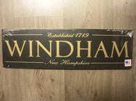 Windham New Hampshire ~ Black Sign